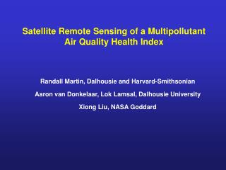 Satellite Remote Sensing of a Multipollutant Air Quality Health Index
