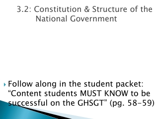 Social Studies GHSGT Review