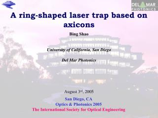 A ring-shaped laser trap based on axicons