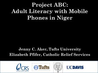 Project ABC:   Adult Literacy with Mobile Phones in Niger