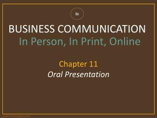 Chapter 11  Oral Presentation
