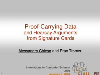 Proof-Carrying Data and Hearsay Arguments from Signature Cards