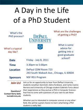 A Day in the Life of a PhD Student