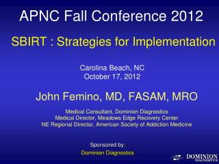 APNC Fall Conference 2012