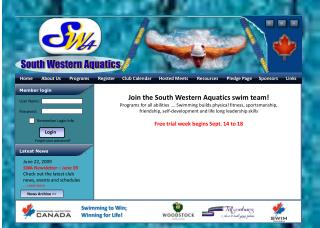 SWA Home Page - Sample