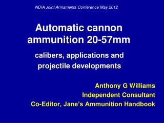Automatic cannon ammunition 20-57mm