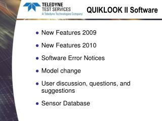 QUIKLOOK II Software