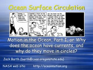 Ocean Surface Circulation