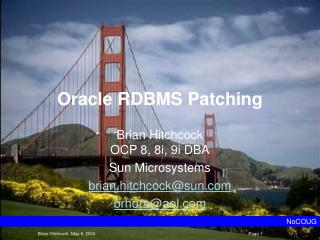 Oracle RDBMS Patching