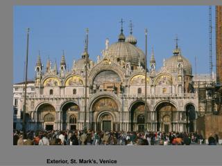 Exterior, St. Mark's, Venice