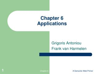 Chapter 6 Applications
