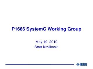 P1666 SystemC Working Group