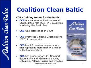 Coalition Clean Baltic - For protection of the Baltic Sea Environment