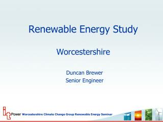 Renewable Energy Study Worcestershire
