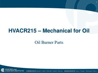 HVACR215 – Mechanical for Oil