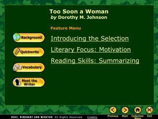 Too Soon a Woman by  Dorothy M. Johnson