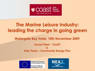 The Marine Leisure Industry:  leading the charge in going green