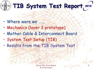 TIB System Test Report