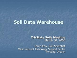 Soil Data Warehouse