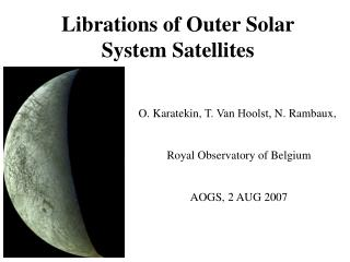 Librations of Outer Solar System Satellites