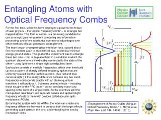 Entangling Atoms with Optical Frequency Combs