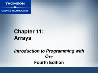 Chapter 11: Arrays