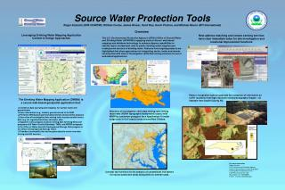 The Drinking Water Mapping Application (DWMA) is a secure web-based geospatial application that: