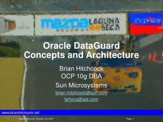 Oracle DataGuard Concepts and Architecture
