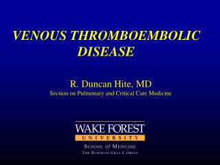VENOUS THROMBOEMBOLIC DISEASE