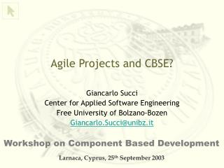 Agile Projects and CBSE?