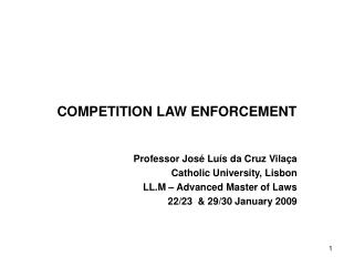 COMPETITION LAW ENFORCEMENT