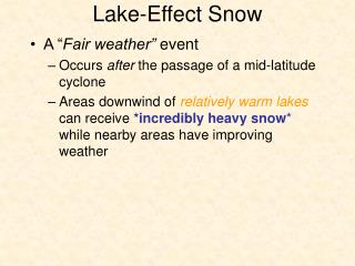 Lake-Effect Snow