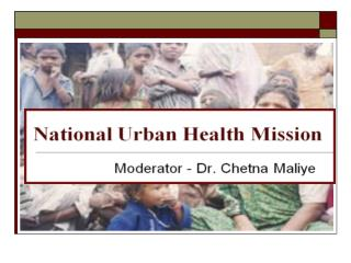 National Urban Health Mission