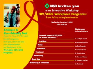 Blueprint for Business Action on HIV/AIDS Economic  impact  of HIV/AIDS  on the business