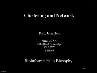 Clustering and Network
