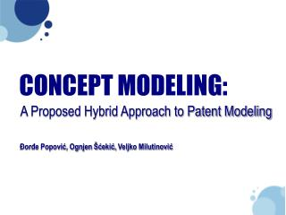 CONCEPT MODELING: