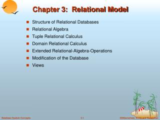 Chapter 3: Relational Model