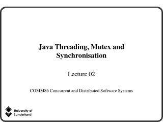 Java Threading, Mutex and Synchronisation