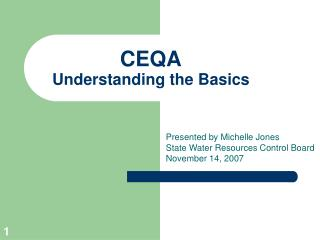 CEQA Understanding the Basics