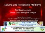 Solving and Preventing Problems