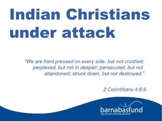 Indian Christians under attack