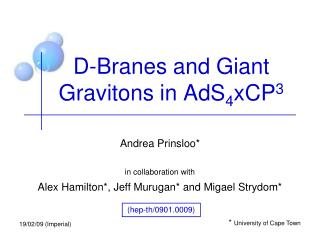D-Branes and Giant Gravitons in AdS 4 xCP 3