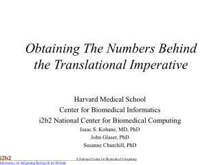 Obtaining The Numbers Behind the Translational Imperative
