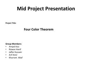 Mid Project Presentation