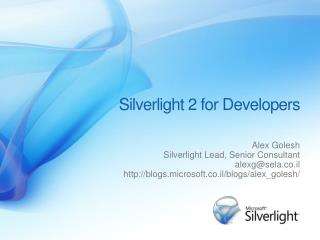 Silverlight 2 for Developers