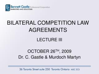 BILATERAL COMPETITION LAW AGREEMENTS
