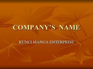 COMPANY'S NAME