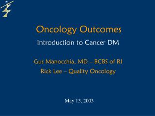 Oncology Outcomes