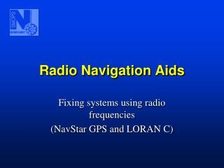 Radio Navigation Aids