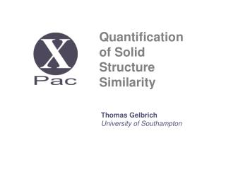 Quantification  of Solid  Structure  Similarity
